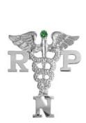 NursingPin - Registered Practical Nurse RPN Graduation Nursing Pin with Emerald in Silver