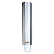 San Jamar C4200PF Stainless Steel Pull Type Foam Beverage Cup Dispenser, Fits 120ml to 300ml Cup Size, 7cm - 8.6cm Rim, 60cm - 1.3cm Tube Length