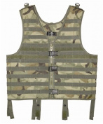 New Hunting / Paintball / Airsoft / Hiking Woodland Camo Molle Web Tactical Vest