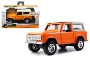 New 1:32 W/B Just Trucks - ORANGE 1973 FORD BRONCO Diecast Model Car By Jada Toys