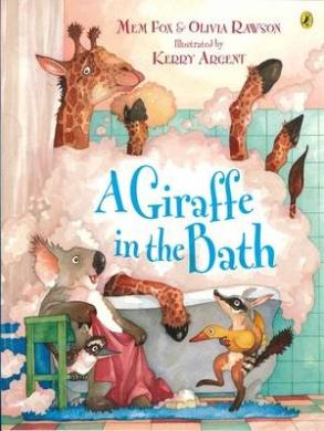 A Giraffe In The Bath,
