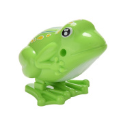 keepingup 1 Piece Plastic Wind up Frog Jumping Animal Educational Clockwork Toy
