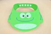 Iable Bath Visor Baby Wash Hair Shield Cap Sun Visor Child Kid Safe Shampoo Shower Green