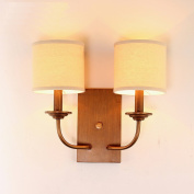 Nordic American country minimalist living room balcony aisle retro wall lamp warm bedroom bedside lamp Double