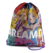 Disney Princess's Cinderella, Belle, Ariel & Snow White Kids PE School Bag, Swimming Bag, Drawstring Bag Gym Bag Back To School