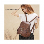 Lycailcy Women's Genuine Leather Backpack Purses Shoulders Bag Travel Bag Daypack Satchel Backpack Messenger Bags Dark Brown Magnetic Snap Small