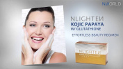 AUTHENTIC NLIGHTEN KOJIC PAPAYA BAR SOAP WITH GLUTATHIONE 135g.