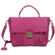 RI2K Kingsland Pink Orchid Genuine leather Satchel Bag