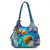 Easter Offer on Anuschka Hand Painted Luxury - 469 Leather Triple Compartment Medium Satchel