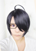 LanTing BROTHERS CONFLICT Asahina Azusa Purple Mix Short Cosplay Party Fashion Anime Wig