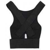 Adjustable Posture Back Support Brace Corrector Shoulder Band Correction Belt Black