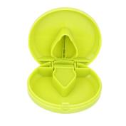 Round Pill Cutter Splitter Storage Compartment Box Medicine Holder Green