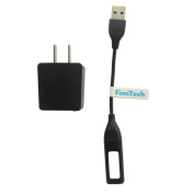 Fitbit Flex cable, Replacement Fitbit USB Charger Cable + 500mA AC Wall Charger Adapter for Fitbit Flex Band Bracelet by FimiTech