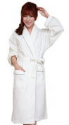 BIFINI Women's Men's Lightweight Cotton Waffle Weave Robe, White