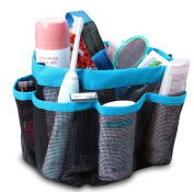 ONEVER Shower Organiser Quick Dry Hanging Shower Caddy Toiletry Organiser Cosmetic Storage Bags with 8 Mesh Pockets Mildew Resistant Water Resistant for Home Travel GYM Dorm Camp Bathroom Multifunctional