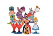 Hot classic MINI ALICE IN WONDERLAND PVC Cake Toppers Figure Toy 6pcs set