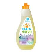 Sun & Earth Natural Liquid Dish Soap, Lavender, 650ml