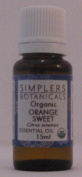 Essential Oil Orange Sweet Organic Simplers Botanicals 15 ml Liquid