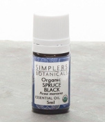 Essential Oil Spruce Black Organic Simplers Botanicals 5 ml Liquid