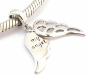 S925 Sterling Silver My Angel Charm Bead fits Pandora Biagi Chamilia & Trollbeads Bracelets