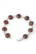 Ana Morales Women's Bracelet Hand-Made Real Mini Flowers 925 Silver Unique Rare Limited Edition Limited Edition