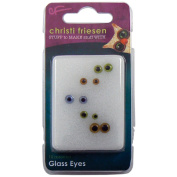 Great Create Christi Friesen Glass Eyes, 10 Ct