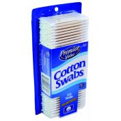 Premier Value Cotton Swabs Paper White - 375 ct
