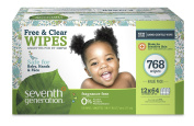 Seventh Generation Free and Clear Value Box Baby Wipes - 768 Count