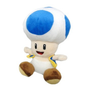 Plush - Nintendo - Super Mario Blue Toad 18cm Soft Doll Toys Gifts 1222