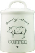David Mason Design Country Retreat Coffee Canister, White
