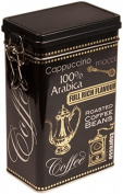 BLACK ARABICA Coffee - Vintage Style RECTANGULAR Coffee Tin / Tea Caddy / Kitchen Storage Tin/Canister - hermetically sealed