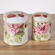 Country Rose & Strawberry Storage Tins 2