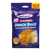 80 RESEALABLE SNACK BAGS LUNCHBOX FOOD POUCH SEALAPACK VALUE PACK
