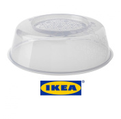 IKEA PRICKIG Standard Quality Transparent Microwave Lid Plate Cover With Air Vents For Perfect Reheating