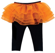 Stephan Baby 616034 Black Leggings With Orange Tutu, 6-12 Months