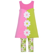 Bonnie Jean Baby Girl 12M Pink Green Daisy Colour Block Spring Outfit