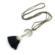 Designer necklace necklace 'Arbre De Vie'silver black.