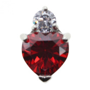 HuntGold Chic Zircon Crystal Heart Love Shape Women Necklace Pendant Gorgeous Jewellery Red