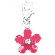 SEXY SPARKLES Women's Clip On Flower Charm Pendant For Jewellery W/ Lobster Clasp