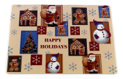 "Carnation Home Fashions ""Happy Holiday"" Holiday Placemat, Set of 4"