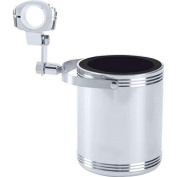 GFCUPHSL Diamond Plate Large Stainless Steel Motorcycle Cup Holder