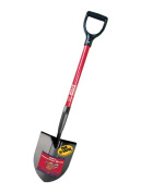 Bully Tools Garden Tools 14-Gauge Round Point Shovel with Fibreglass D-Grip Handle 82510