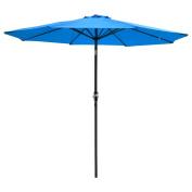 2.7m Aluminium Outdoor Patio Umbrella w/ Crank Tilt Deck Market Yard Beach Pool Cafe Blue