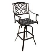 Wilshire Rotating Cast Aluminium Outdoor Chair/Bar Stool