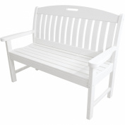 Hanover Outdoor Furniture Avalon All-Weather 120cm Porch Bench, White