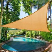 3.5m Triangle Sun Shade Sail Patio Deck Beach Garden Yard Outdoor Canopy Cover Uv Blocking Desert Sand
