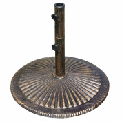 Blue Wave 36kg. Classic Cast Iron Umbrella Base in Bronze