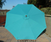 2.7m Umbrella Replacement Canopy 8 Ribs in Turquoise Olefin