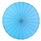 70cm Turquoise Paper Parasol Umbrella