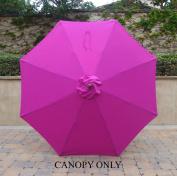 2.7m Umbrella Replacement Canopy 8 Ribs in Fuchsia
